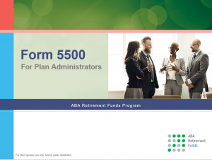 Form 5500 for retirement plan administrators.