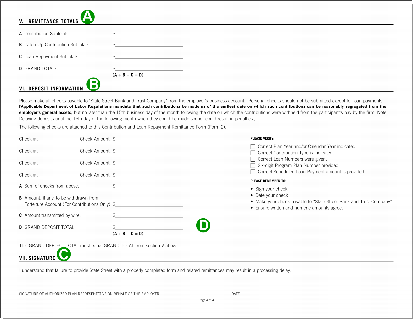 Contribution and loan payment remittance form, page four.