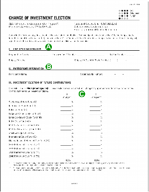 Retirement fund change of investment election form.