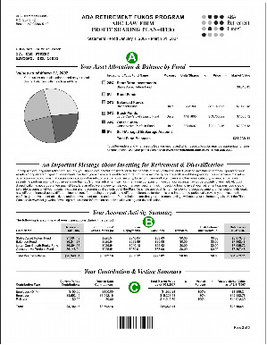 Retirement fund compliance form, page two.