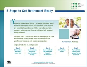 5 steps to get ready for retirement.