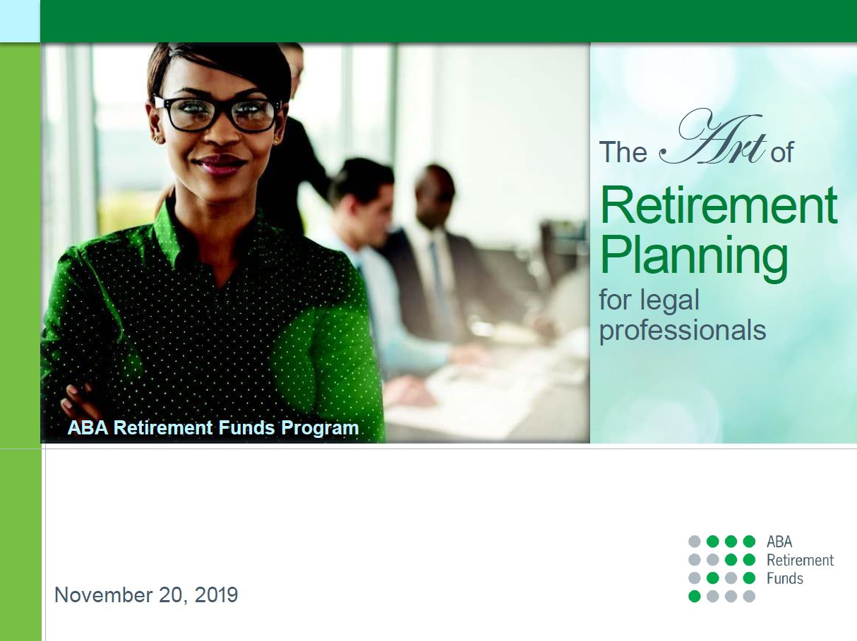 the art of retirement planning for legal professionals