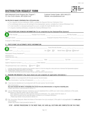 distribution request form page 1