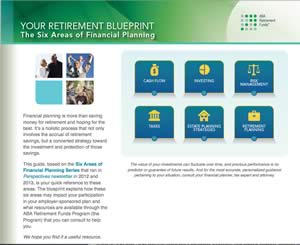 Your Retirement Blueprint: The Six Areas of Financial Planning